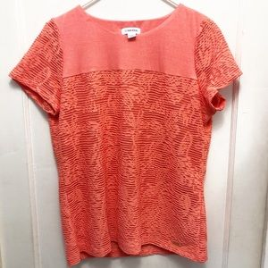 Calvin Klein Textured Top with lining. Coral Color